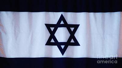 Magen David Photograph - The Flag Of Israel by Poet's Eye