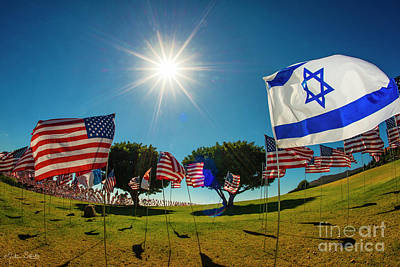 The Flag Of Israel Tribute Art Print by Julian Starks
