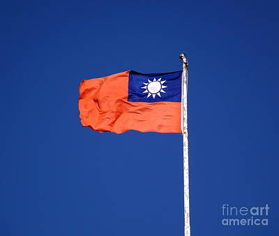 Photograph - The Flag Of Taiwan by Yali Shi