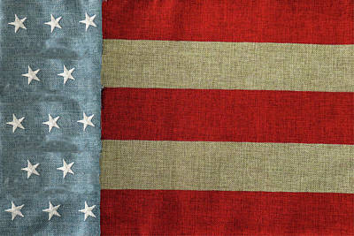 Photograph - Vintage Textured Us Flag by Tom Prendergast
