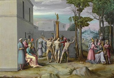 Flagellation Painting - The Flagellation by Bacchiacca