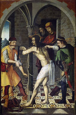 Flagellation Painting - The Flagellation by Francisco and Rodrigo de Osona