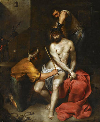 Flagellation Painting - The Flagellation Of Christ by Antonio Maria Vassallo