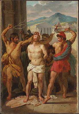 Flagellation Painting - The Flagellation Of Christ by Lon Pallire