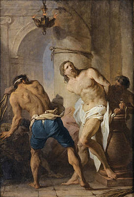Flagellation Painting - The Flagellation Of Christ by Pierre Subleyras