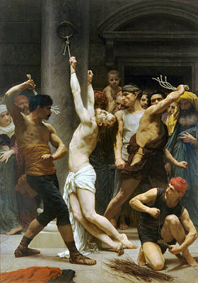 Flagellation Painting - The Flagellation Of Our Lord Jesus Christ 1880 by William Bouguereau Presented by Joy of Life Art
