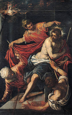 Flagellation Painting - The Flagellation by Tintoretto