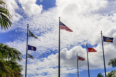Photograph - The Flags Of Pearl Harbor. by Michael Scott