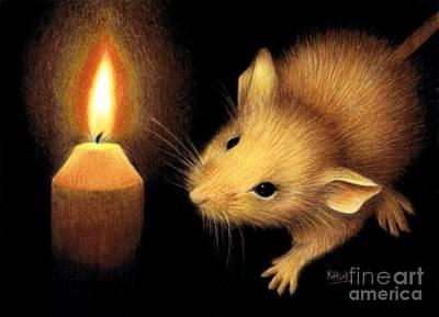 The Flame Art Print by Karen Hull