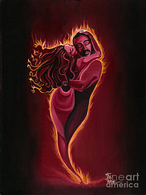 The Flame Art Print by Toni  Thorne