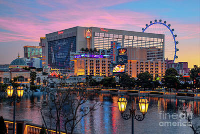 Photograph - The Flamingo Casino At Dawn by Aloha Art