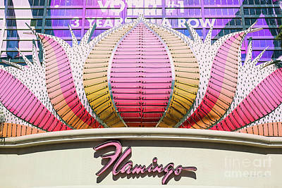 Flamingo Hotel Wall Art - Photograph - The Flamingo Center Sign Only by Aloha Art