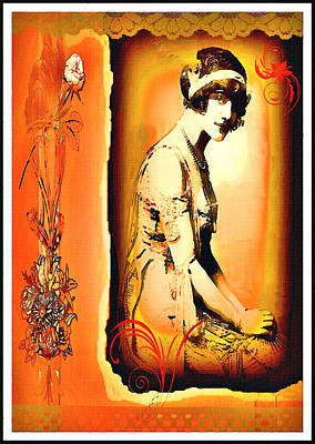 Mixed Media - The Flapper by Mary Morawska