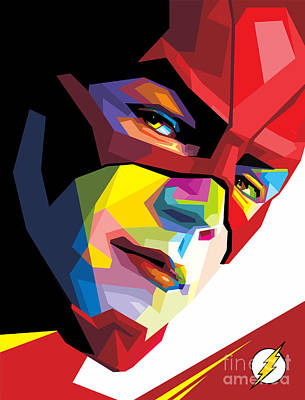 The Flash Colorful Pop Art Original by Madiaz Roby