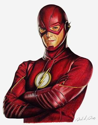 Drawing Drawing - The Flash by David Dias