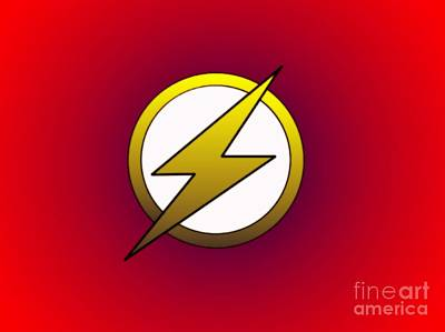 Justin Moore Digital Art - The Flash  by Justin Moore