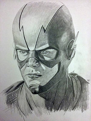 Drawing - The Flash by Michael McKenzie