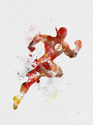Movie Mixed Media - The Flash by Rebecca Jenkins