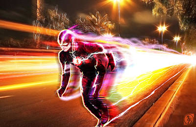 Lightning Digital Art - The Flash by The DigArtisT