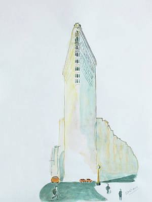 Painting - The Flat Iron Building by Keshava Shukla