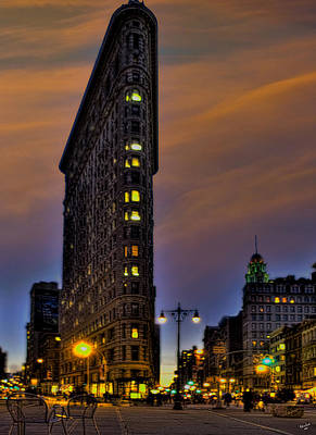 Photograph - The Flatiron Building At Dusk by Chris Lord
