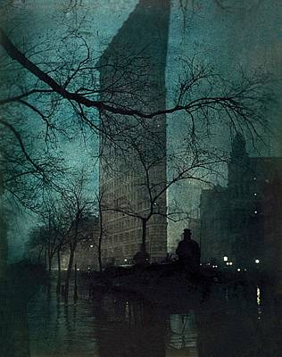 City Scenes Royalty-Free and Rights-Managed Images - The Flatiron Building by Edward Steichen