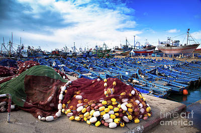 Photograph - The Fleet And The Nets by Rene Triay Photography