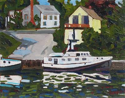 Beaver Lake Painting - The Fleet by Phil Chadwick