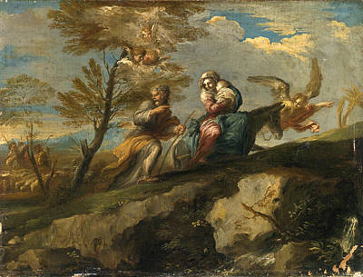 Ranieri Del Pace Painting - The Flight Into Egypt by Giovanni Battista Ranieri del Pace