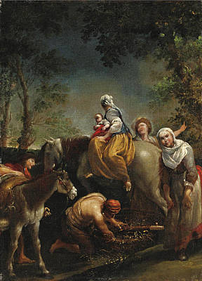 Painting - The Flight Into Egypt by Giuseppe Maria Crespi