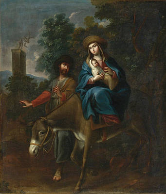 Painting - The Flight Into Egypt by Miguel Cabrera