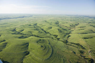 The Flint Hills Of Kansas Art Print by Jim Richardson