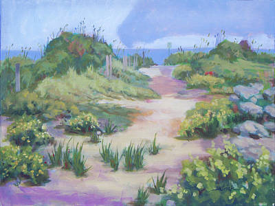 Painting - The Flip-flop Path To Paradise by Carol Strickland