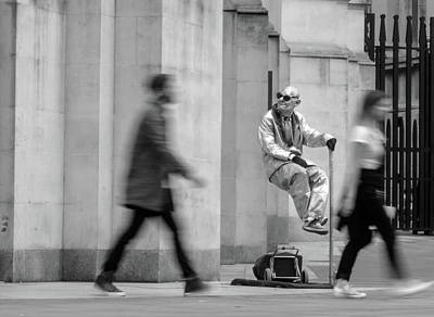 Photograph - The Floating And Levitating Man In London by Jacek Wojnarowski