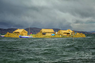 Photograph - The Floating And Tourist Islands Of Lake Titicaca Puno Peru Sout by Patricia Hofmeester