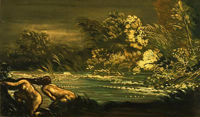 Arthur Bowen Davies Painting - The Flood by Arthur Bowen Davies