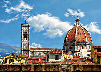 Photograph - The Florence Cathedral by Anthony Dezenzio