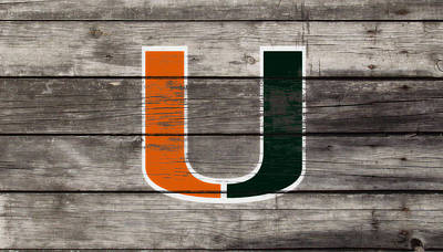 The Miami Hurricanes 3h      Print by Brian Reaves