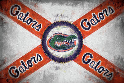 Digital Art - The Florida Gators State Flag by JC Findley