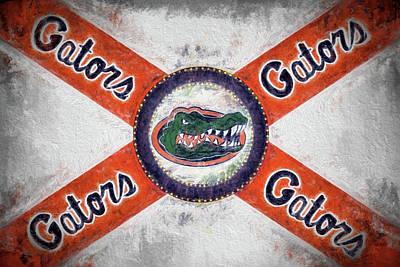 Digital Art - The Florida Gators State Flag by JC Findley