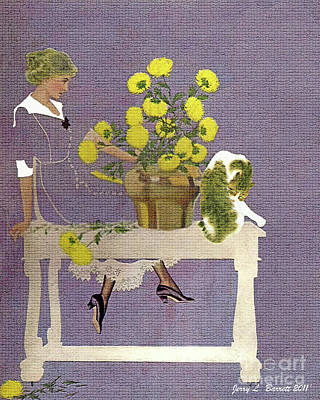 The Florist Art Print by Jerry L Barrett