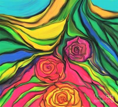 Digital Art - The Flow by Hilda Lechuga