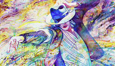 Painting - The Flow Of Mj by Joshua Morton