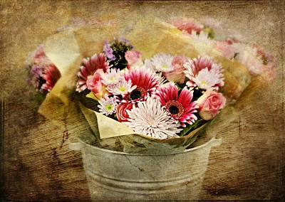 Photograph - The Flower Bucket by Diana Angstadt
