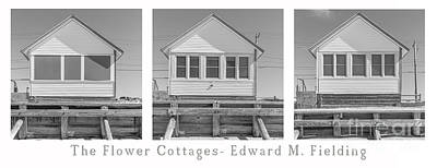 Photograph - The Flower Cottages Trio Poster by Edward Fielding