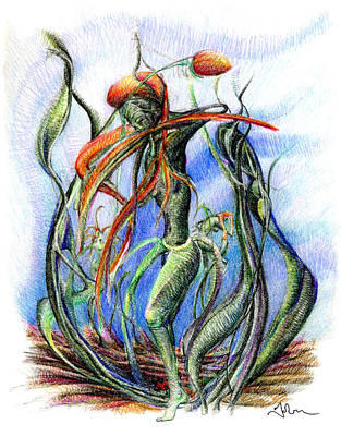 The Flower Dancing Art Print by Mark Johnson