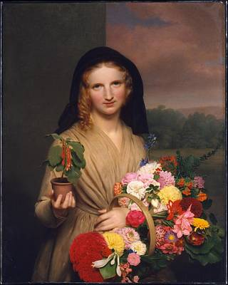 Cromwell Painting - The Flower Girl by MotionAge Designs