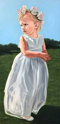 Painting - The Flower Girl by Jill Ciccone Pike