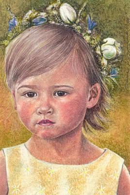 Drawing - The Flower Girl by Melissa J Szymanski