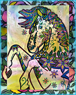 Mixed Media - The Flower Girl by Wbk